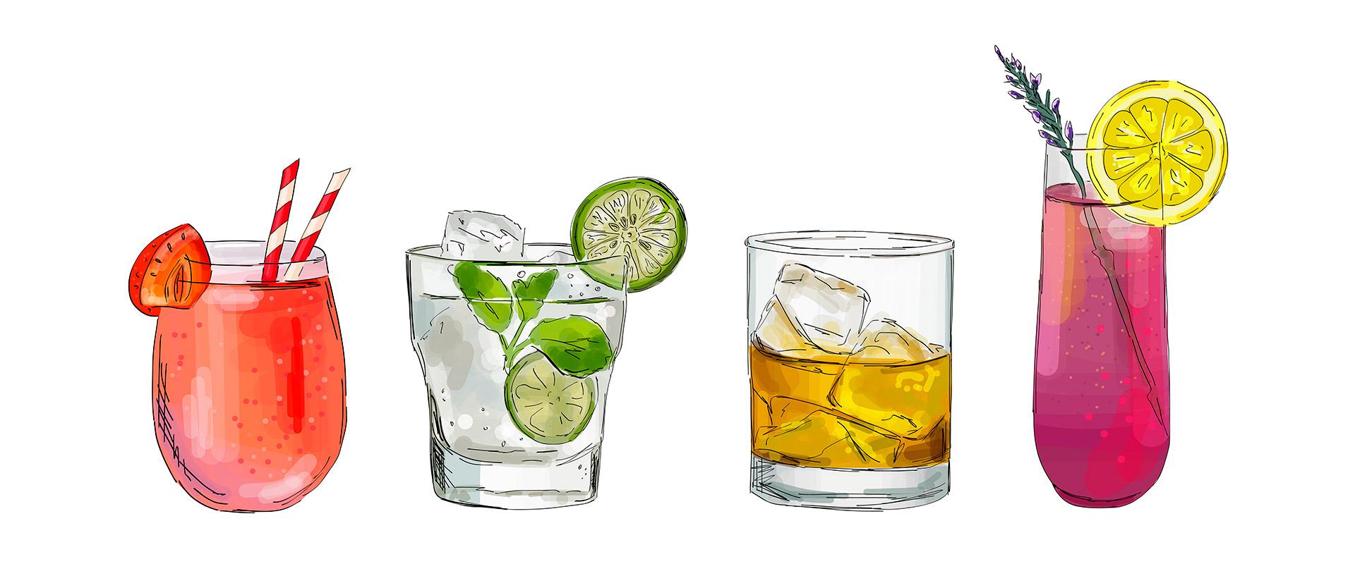 Cocktailgläser machen Lust auf leckere Drinks